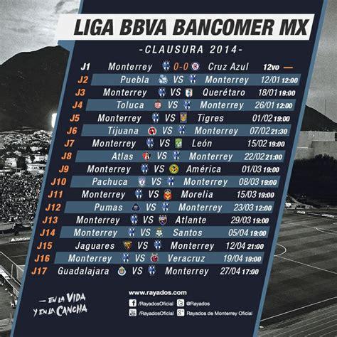 Calendario Monterrey Liga Mx 2014 Calendario Clausura 2014 En La Liga Bancomer Mx