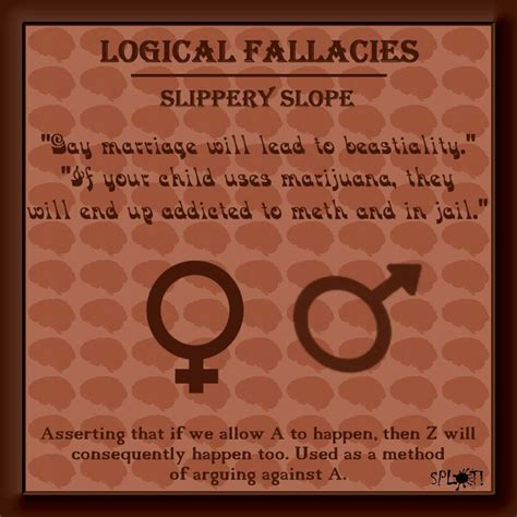 slipper slope fallacy 1000 images about logic and critical thinking on