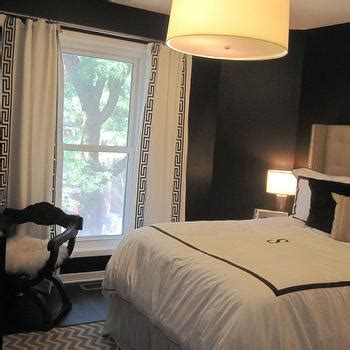 black and white curtains contemporary bedroom hgtv black walls contemporary bedroom benjamin moore onyx