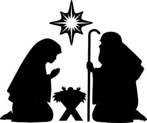 nativity silhouette template nativity silhouettes