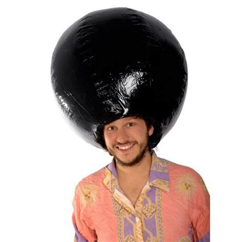 afro helmet giant inflatable afro wig