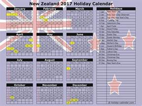 Calendar 2018 Holidays Nz New Zealand 2017 2018 Calendar