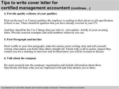 Certified Accountant Cover Letter by Certified Management Accountant Cover Letter