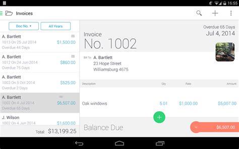 invoice2go invoice on the job screenshot
