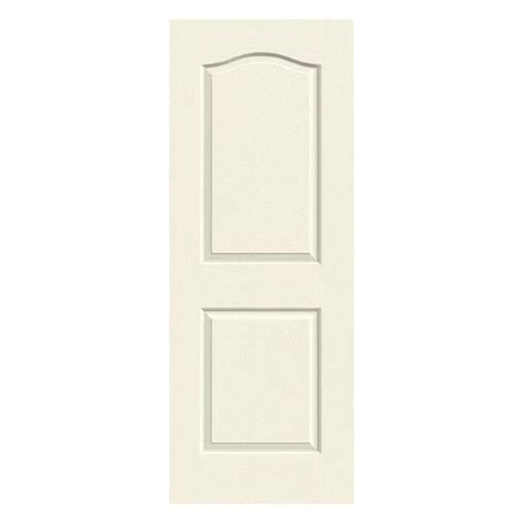 Jeld Wen 32 In X 80 In Molded Smooth 2 Panel Eyebrow 32 Interior Door