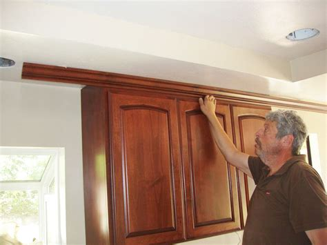 installing crown molding on kitchen cabinets san diego s best custom cabinetry special process of davis cabinets