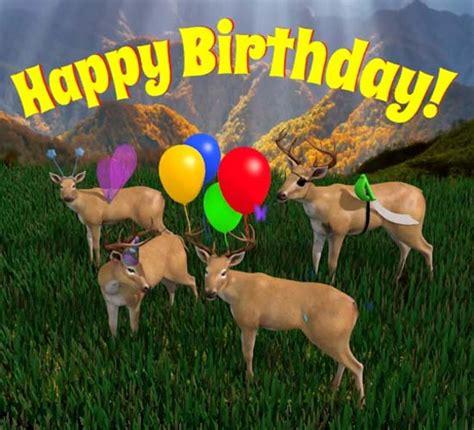 happy birthday deer herd  happy birthday ecards greeting cards