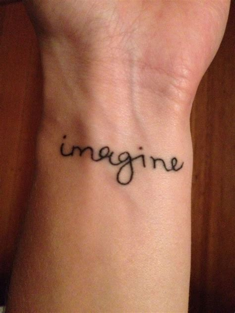 john lennon tattoo imagine in lennon s handwriting cool