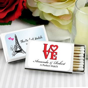 wedding favors at nice prices personalized matches set of 50 white box heart