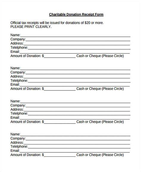 official receipt template ai 11 donation receipt form sle free sle exle