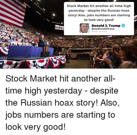 Hits The Market by Stock Market Hit Another All Time High Yesterday Despite