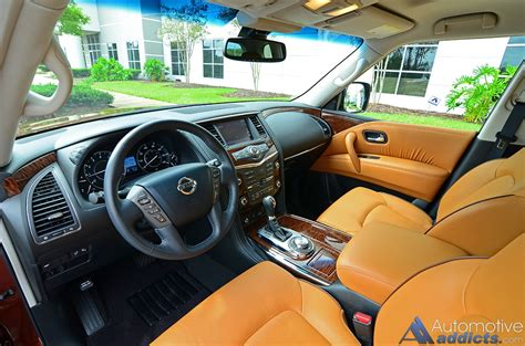 nissan patrol 2016 platinum interior 2017 nissan armada platinum awd review test drive