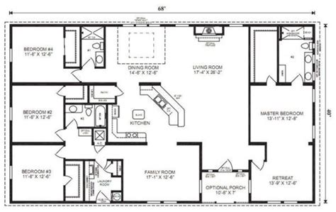4 bedroom ranch floor plans best 25 4 bedroom house plans ideas on house