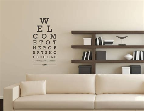 contemporary wall stickers eye chart wall sticker contemporary wall stickers
