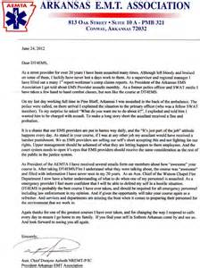 Ems Supervisor Cover Letter by Letter Of Recommendation For Emergency Technician