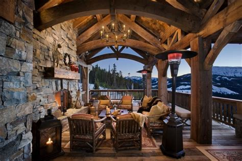 spectacular rustic porch designs  rustic house