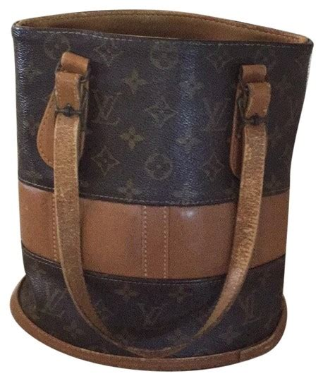 louis vuitton bucket classic brown lv monogram leather