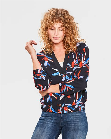 Bomber Blouse By S flower print bomber blouse 80548485 we fashion