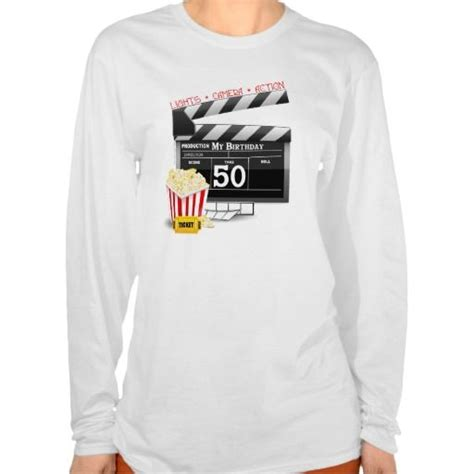 movie themed clothing 50th birthday movie theme t shirt shirts movies and