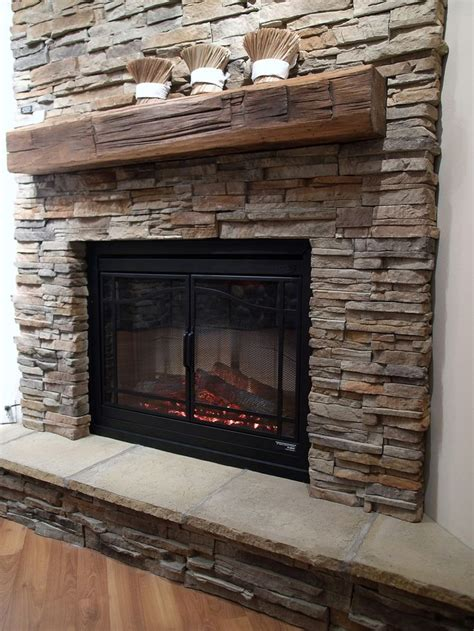 1000 ideas about stacked fireplaces on fireplace makeover