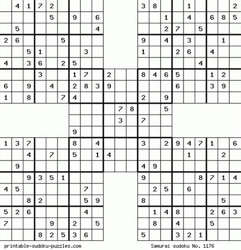 printable sudoku puzzles com samurai samurai sudoku quotes