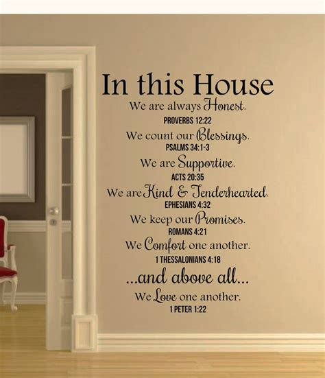bible verses for the home decor in this house bible verses wall decal quote christian wall