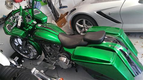 2014 harley davidson 174 custom green blk silver orange park florida 650893 chopperexchange