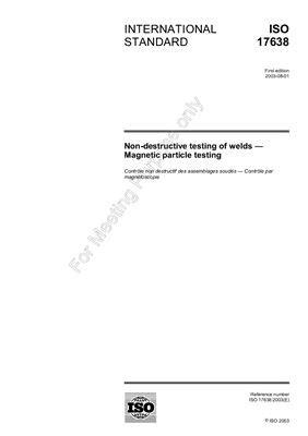BS EN ISO 5173: 2010 Destructive tests on welds in