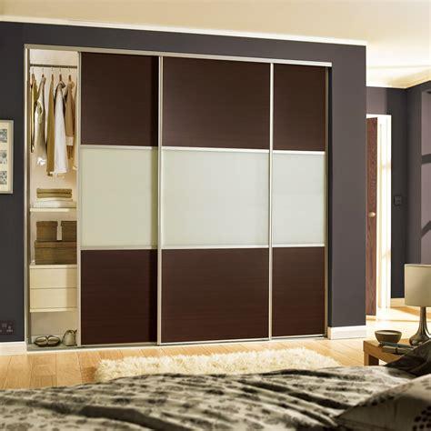 stylish  door sliding wardrobe  cream glass finish
