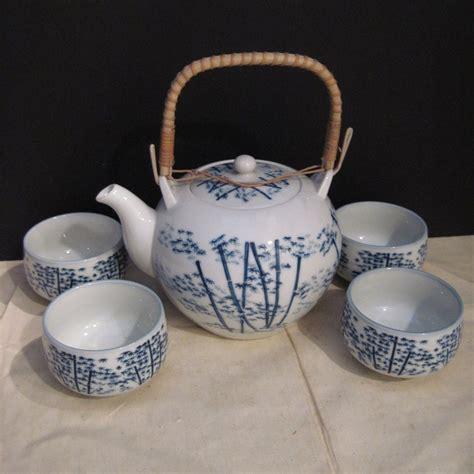 Set Blue Zp 1 vintage japanese tea set in blue and white something wonderful ruby