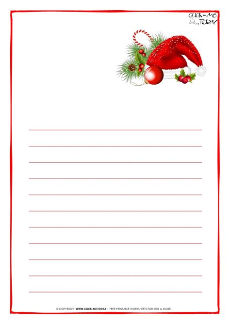 letter to santa claus paper blank template with lines