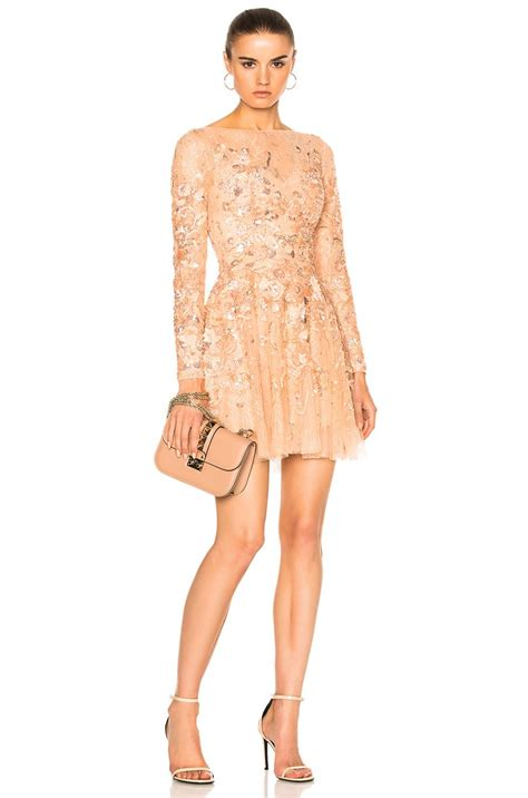 Dress Cammeo 1 lyst zuhair murad sleeve mini dress in pink