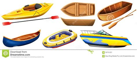 kinds of boats different kind of boats stock vector image of object