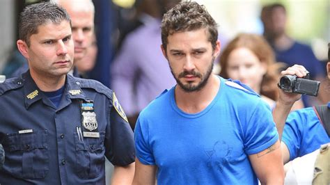 shia labeouf posts bail after causing disturbance at