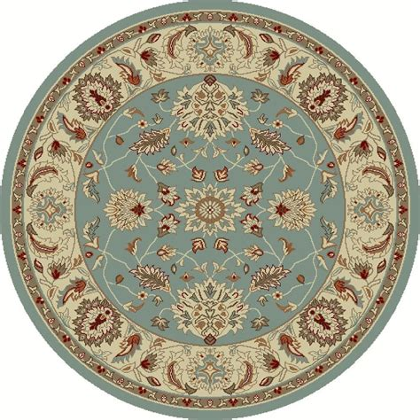 round accent rugs concord global trading chester oushak blue 5 ft 3 in