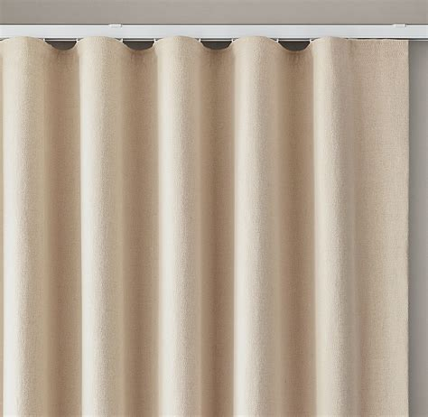 ripple fold drapery custom belgian brushed linen cotton ripple fold drapery