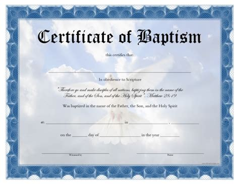 baby christening certificate template baptism certificate template pdf templates resume