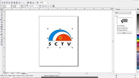 tutorial corel draw sctv cara membuat logo sctv dengan corel draw swit 12 youtube