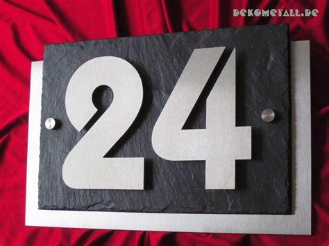 Hausnummer Weiß Metall by Hausnummer Aus Edelstahl V2a Hausnummern Va
