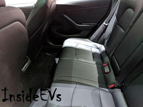 tesla model 3 interior seating tesla model 3 heated rear seats now activated via ota update