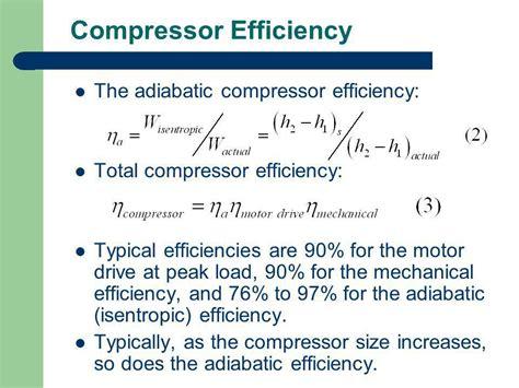 gas compressor gas compressor efficiency calculation