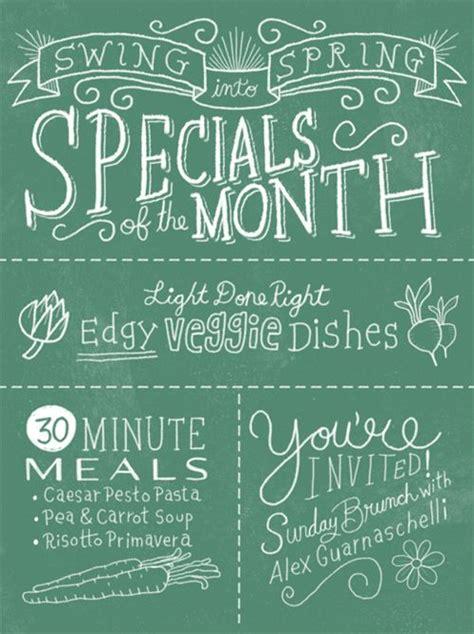 menu design lettering chalkboard menu lettering print design inspiration