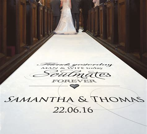Wedding Aisle Runner Uk by Personalised Aisle Runners Available 12 02 2015