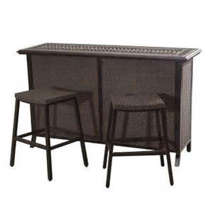 Bar Set Outdoor Patio Furniture Patio Bar Sets Outdoor Bar Furniture The Home Depot