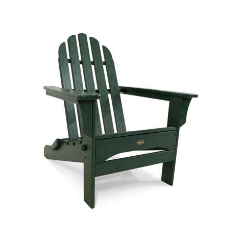 canopy folding plastic adirondack chair outdoor furniture cape  rainforest ebay