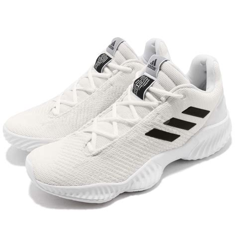 adidas pro bounce 2018 low white black basketball shoes sneakers bb7410 ebay
