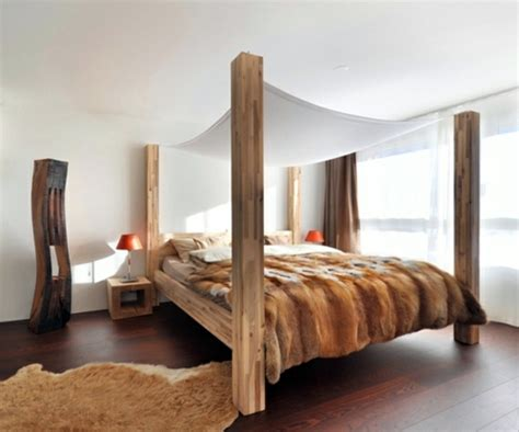 schlafzimmer canopy ideas 50 cool ideas for canopy beds made of wood in the bedroom