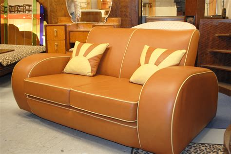 resplendent retro classic faux leather sofas two