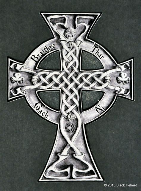 irish celtic cross tattoos braithre cross decal gaelic for quot brotherhood before