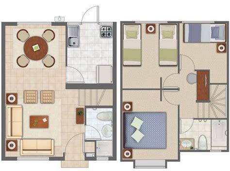 planos de casas pequenas pictures to pin on pinterest planos de casas en 57m2 casitas peque 209 as plantas